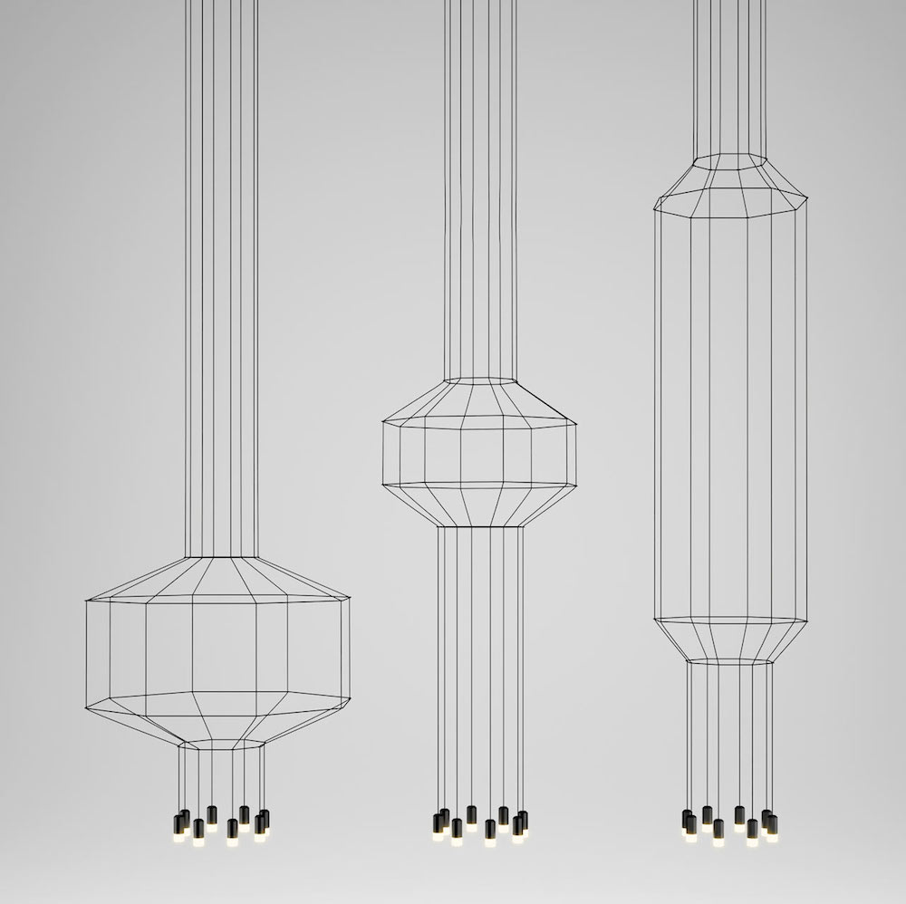 Wireflow Geometric Line Drawing Lighting By Arik Levy For Vibia Homeli Chandelier Wiring In Parallel Set Of 3 3d Lights